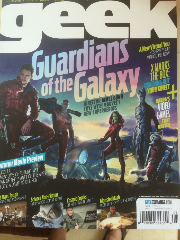 Geek magazine Guardians of the Galaxy