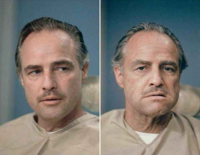 Marlon Brando Godfather makeup tests