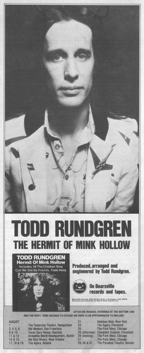 Todd Rundgren album ad