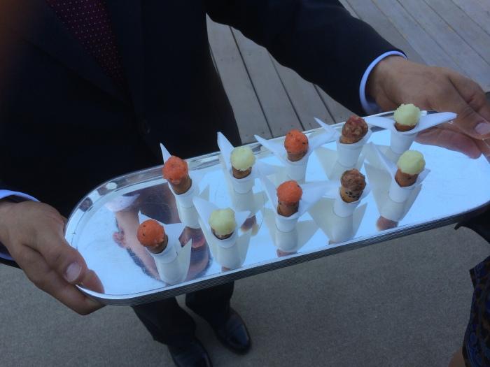 Tray of Salmon cones