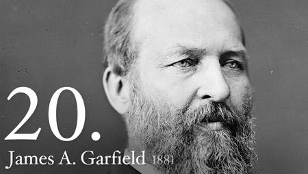 20th President James Garfield