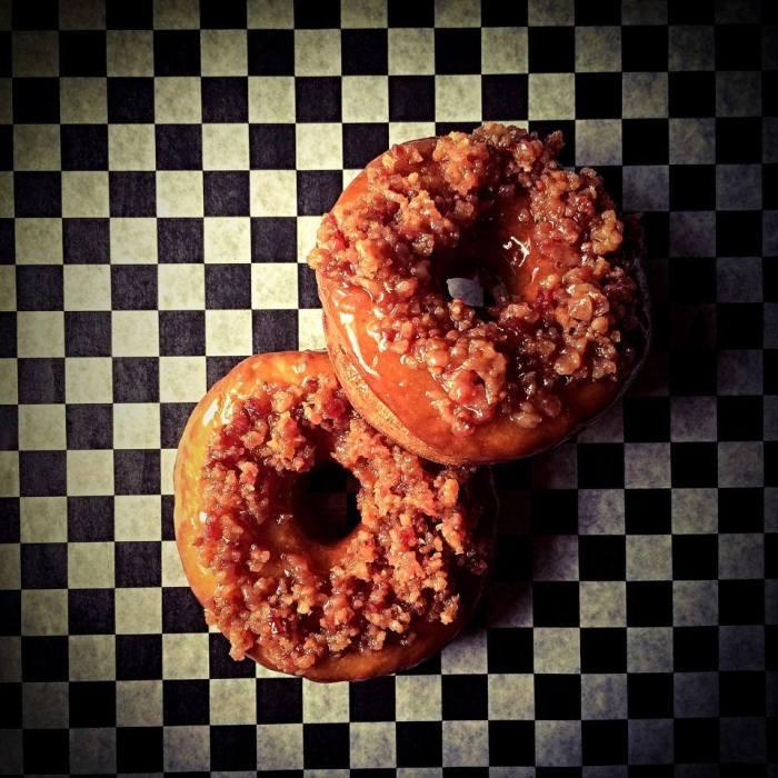 bacon caramel doughnut