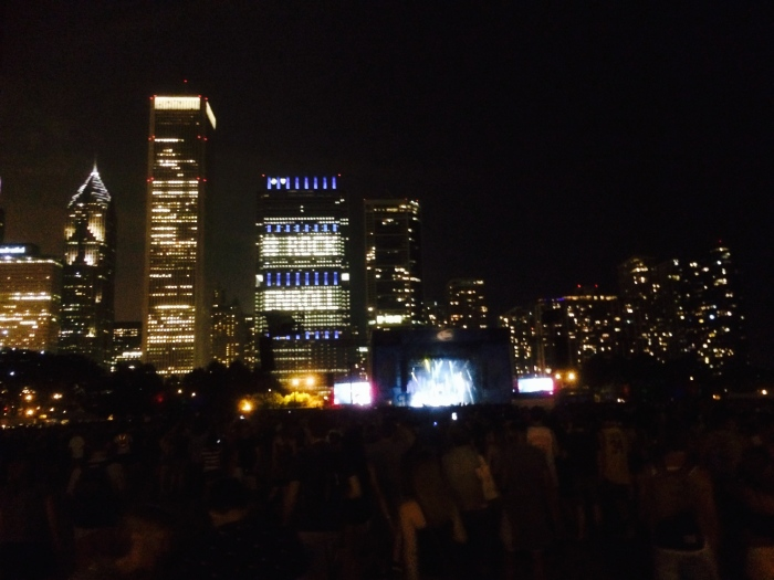 Chicago skyline Lollapalooza