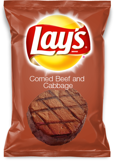 corned beef and cabbage potato chips