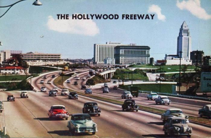 downtown LA Hollywood Freeway