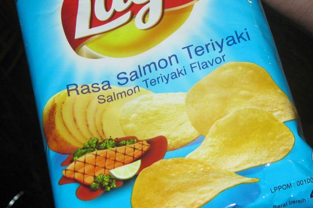 salmon teriyaki potato chips