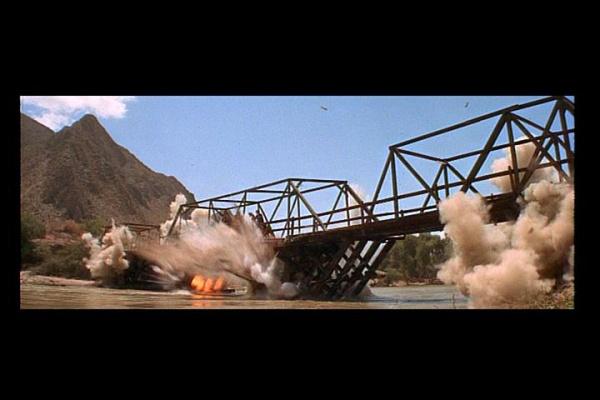 The Wild Bunch bridge explosion