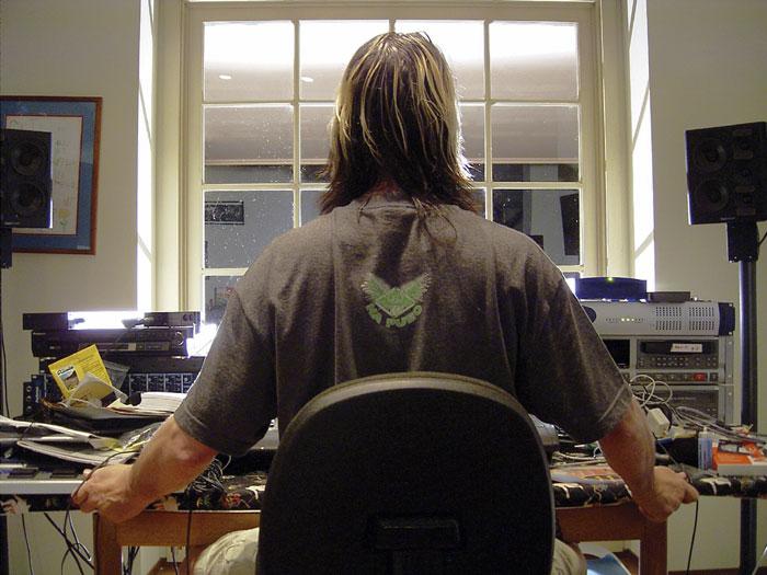 Todd Rundgren in studio