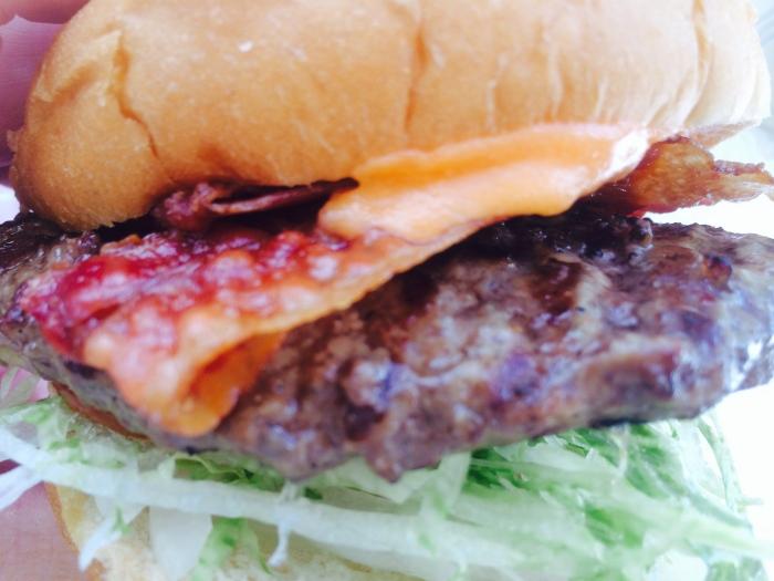 Muskie burger closeup