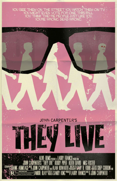 They Live 1988 Poster RIP Rowdy Roddy Piper!...