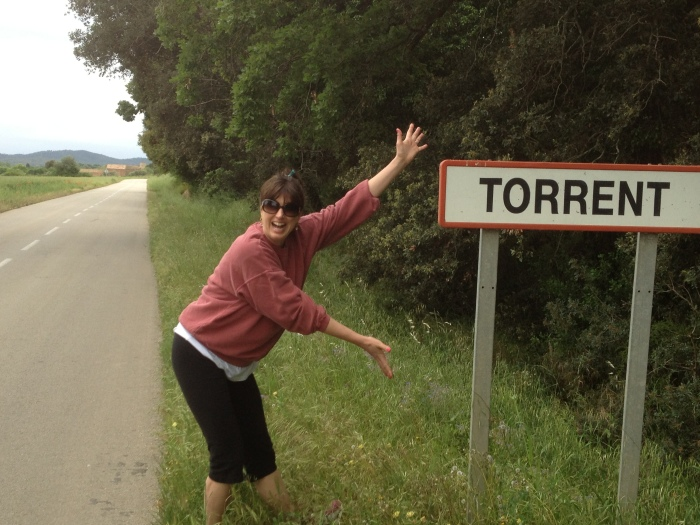 Alex at Torrent sign