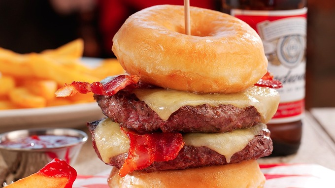 double doughnut burger