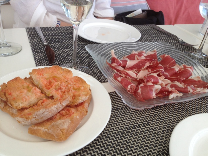 iberico ham and peasant bread