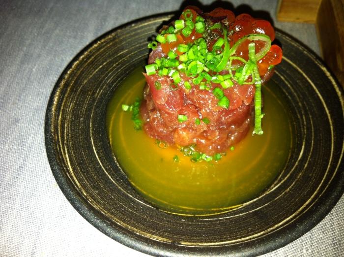 Barcelona restaurants comerc24 tuna tartar tower