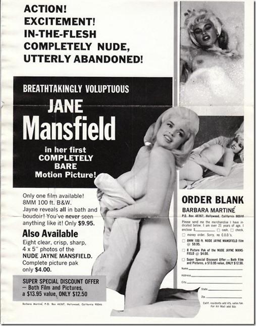 nude Jayne Mansfield poster