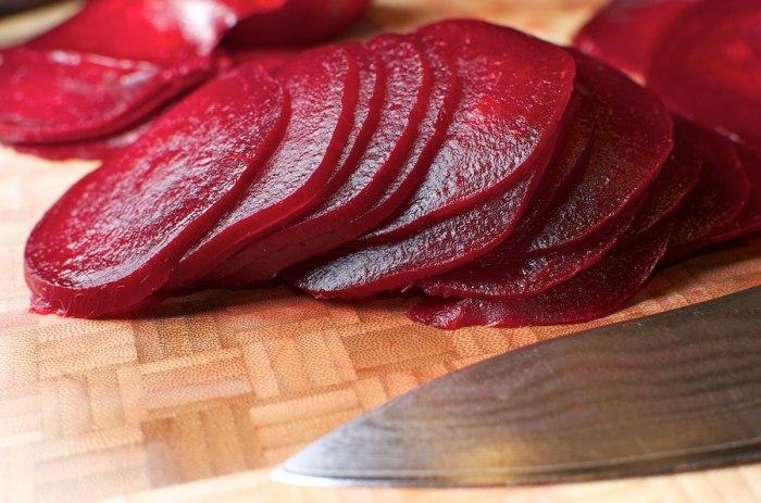 sliced beet recipes