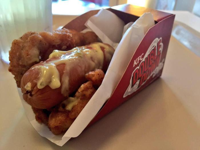 double down kfc hot dog