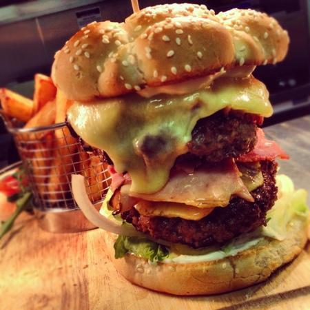 double-hawaain-burger