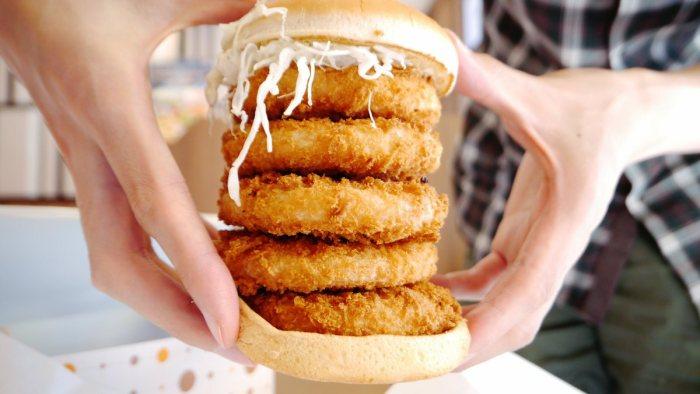 Japan shrimp burger