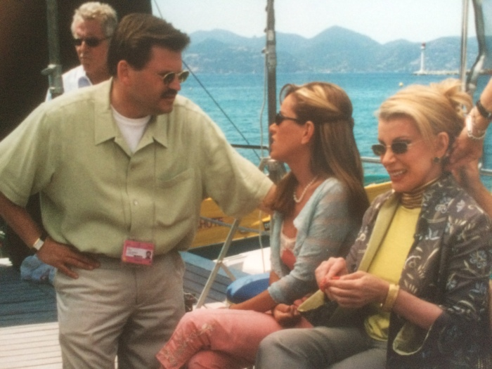 Joan Rivers Cannes 2000 filming