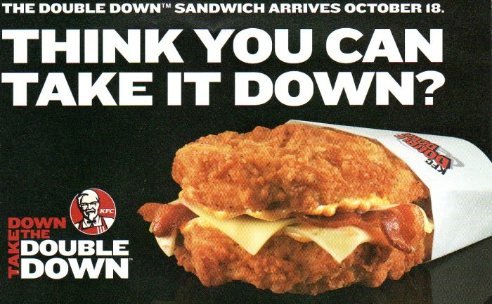kfc double down meal