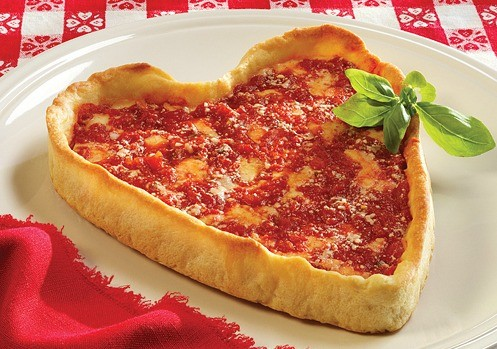 heart shaped giordano's pizza