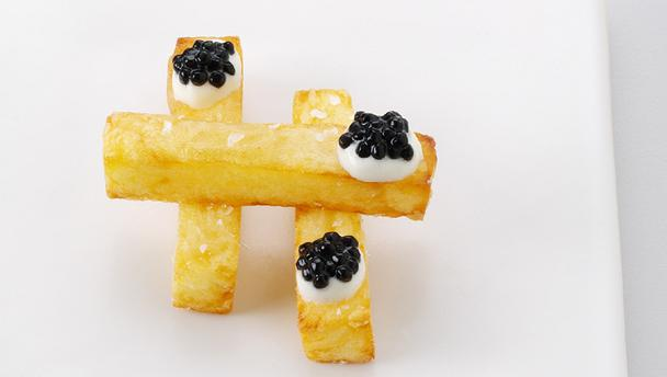 caviar french fries