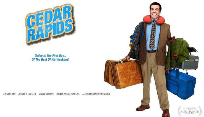 Comedian Ed Helms Cedar Rapids movie poster