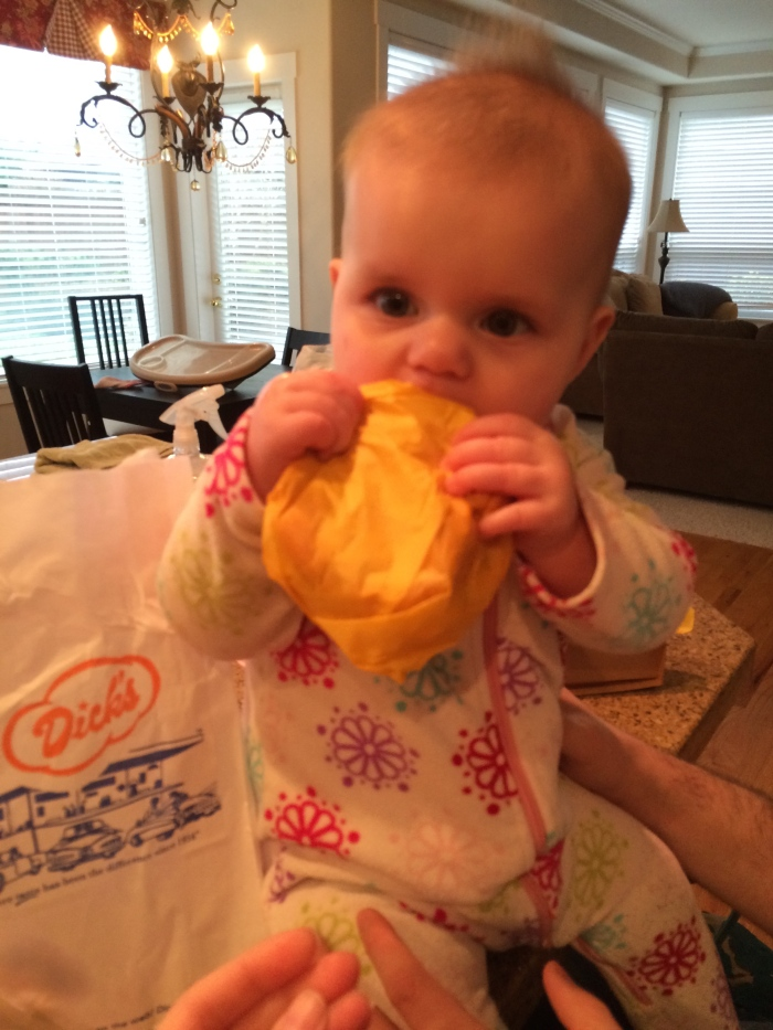 sydney with cheeseburger