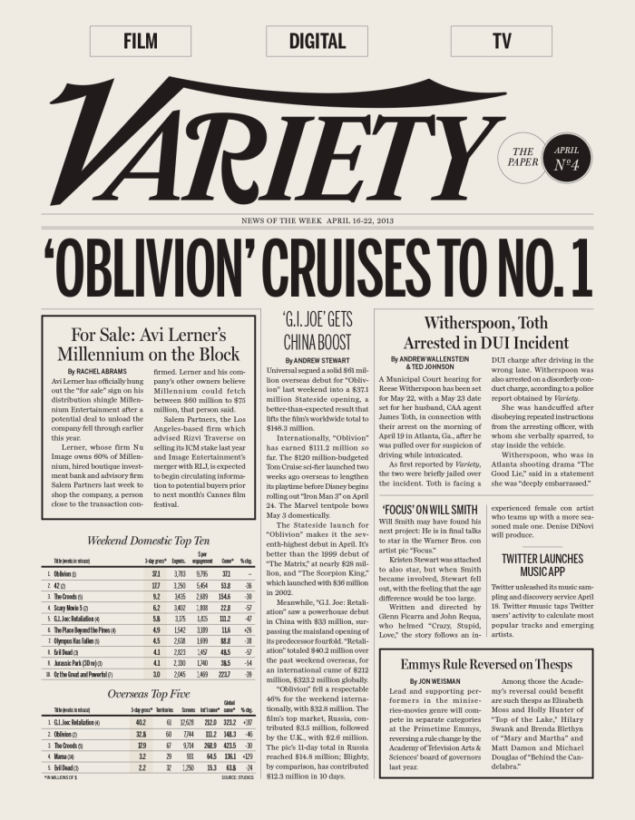 Variety newspaper
