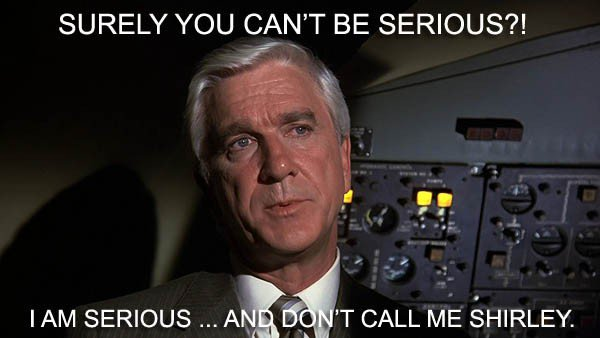 Airplane movie lines