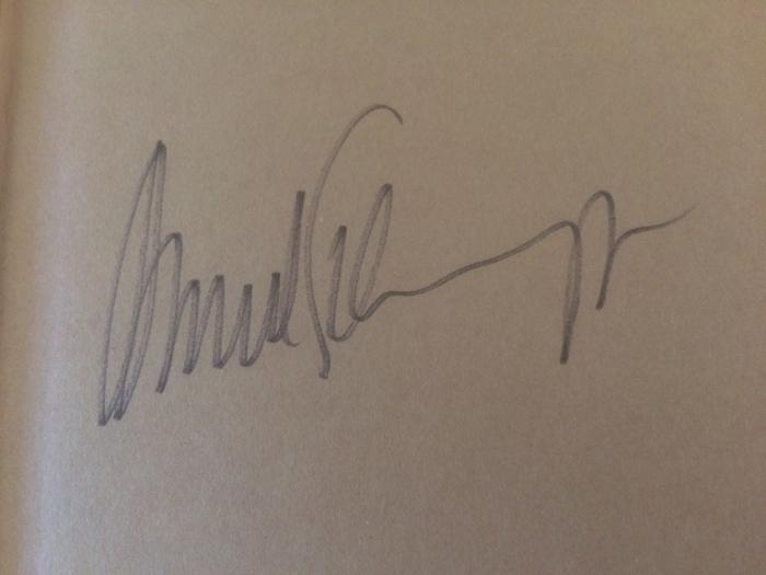 Arnold Schwarzenegger autograph
