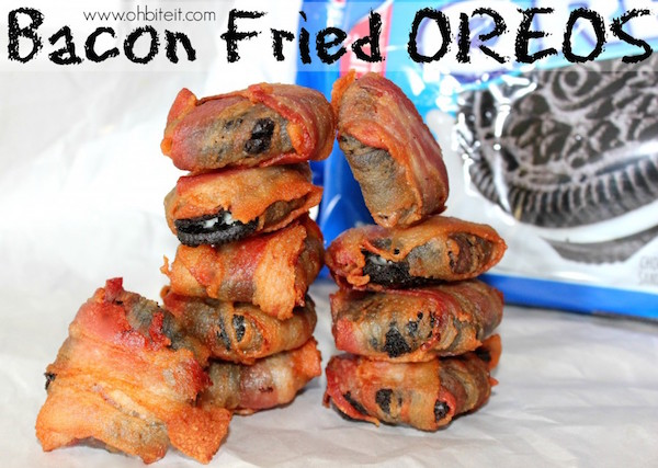 bacon fried oreos