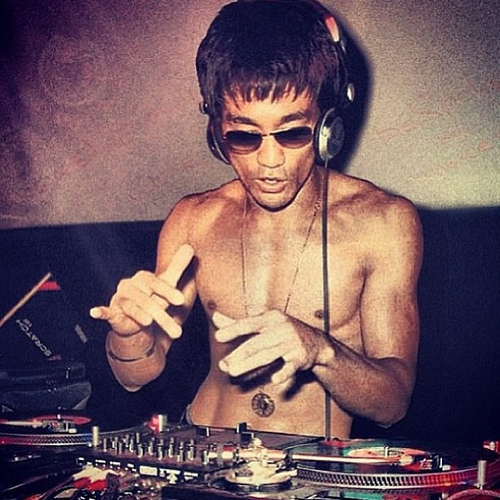 3b1d4462a1fde5 Happy Birthday DJ Bruce Lee! Lee's Amazing Nunchuck Ping Pong Match ...