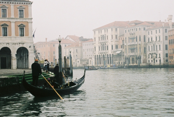 Venice goldola at rest