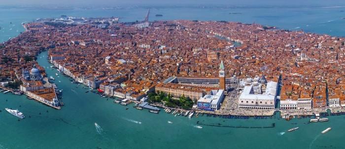 Venice Italy aerial