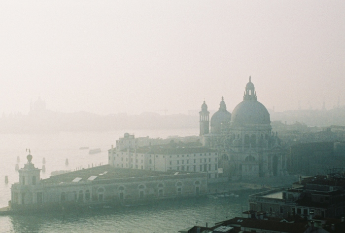 Venice Italy shrouded in fog