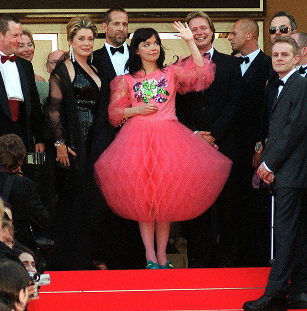 Bjork Cannes film festival dress
