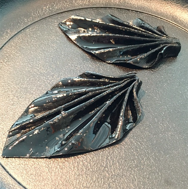 black garlic leather