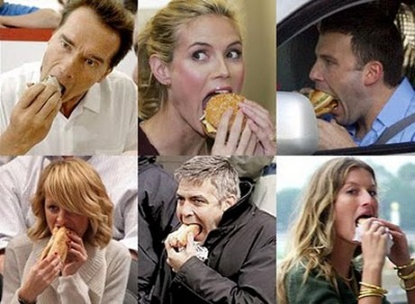 celebrities eating food