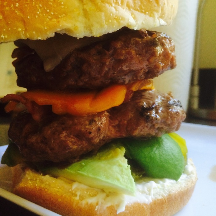 Double decker cheeseburger recipe