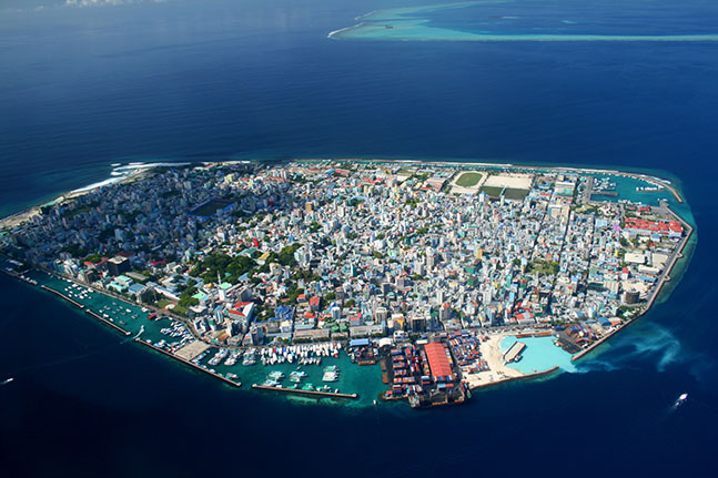 Male capital of Maldives