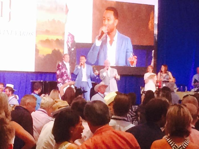 John Legend Napa Valley wine auction