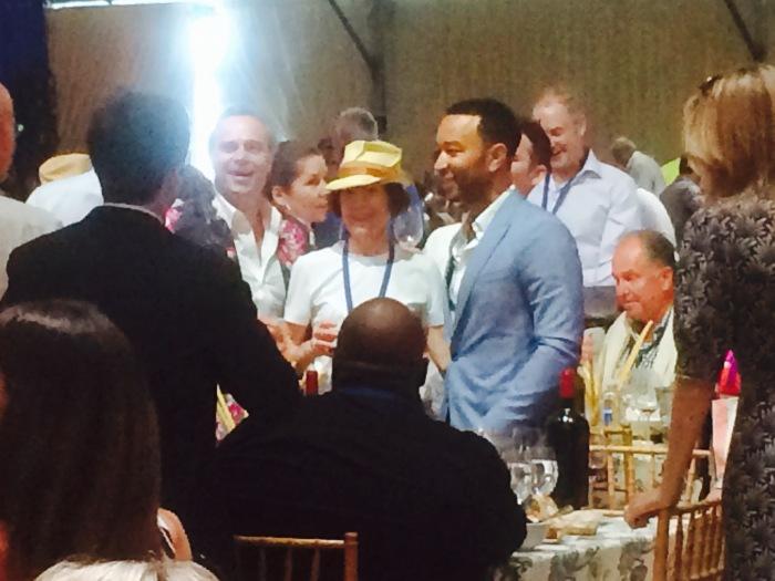 John Legend Napa wine auction