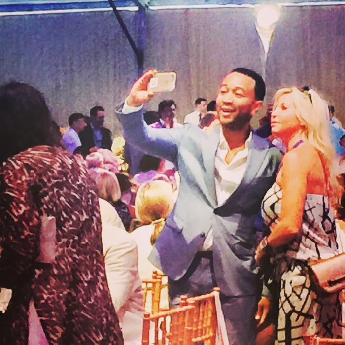 Singer John Legend selfies