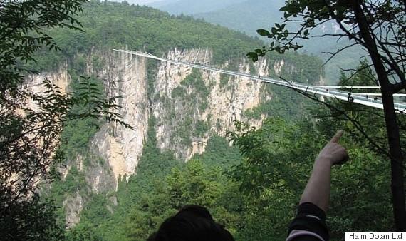 glass bridge cracked china