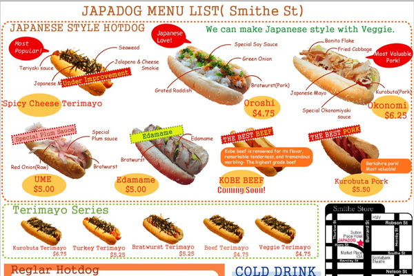 japanese-hot-dog chart