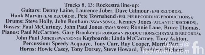"Paul McCartney's ""Back To The Egg!"" The All-Star ""Rockestra"