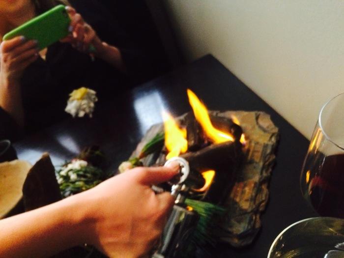Alinea fire dish