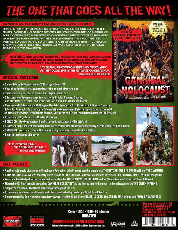 Cannibal Holocaust blu ray